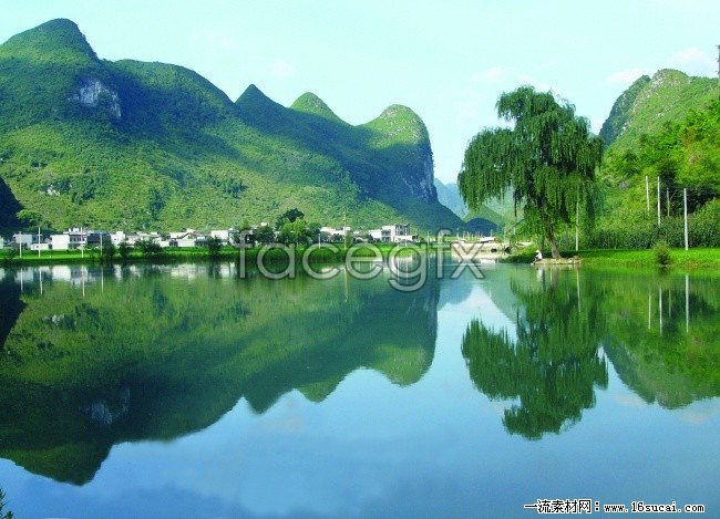 Pingzhai dam HD photography landscape pictures