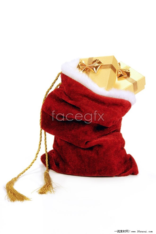 Red gift bag Christmas HD pictures