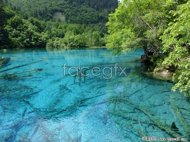 River scenery in Jiuzhaigou HD pictures