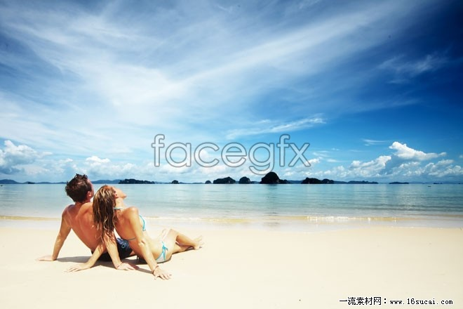 Seaside romantic couple HD picture