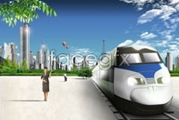 Urban construction train high definition pictures