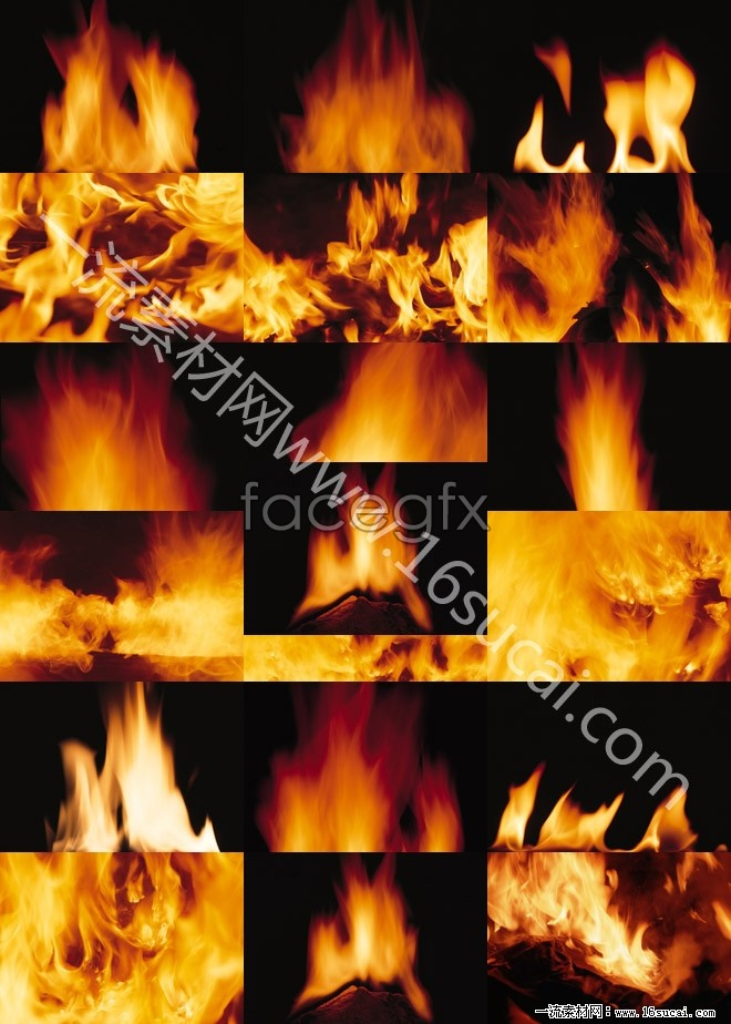 50 flame high definition picture pack