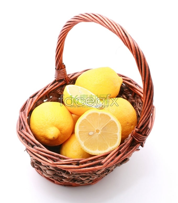 A basket of fresh lemon photography high resolution images