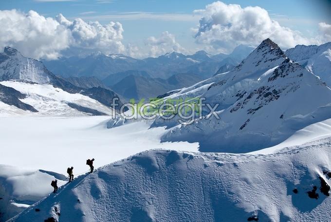 Alpine HD Grand snow mountain scenery picture