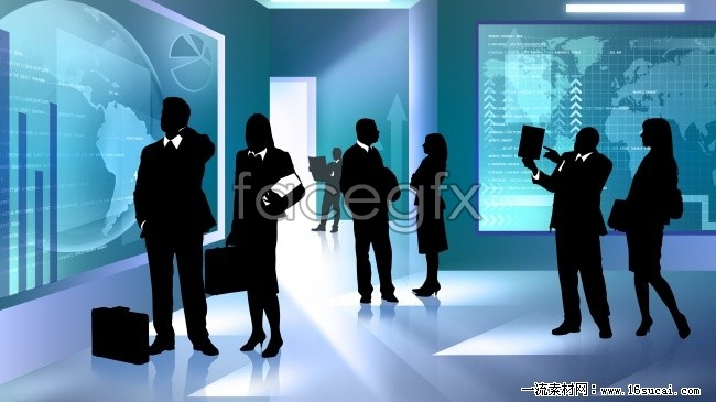 Business people silhouettes HD pictures