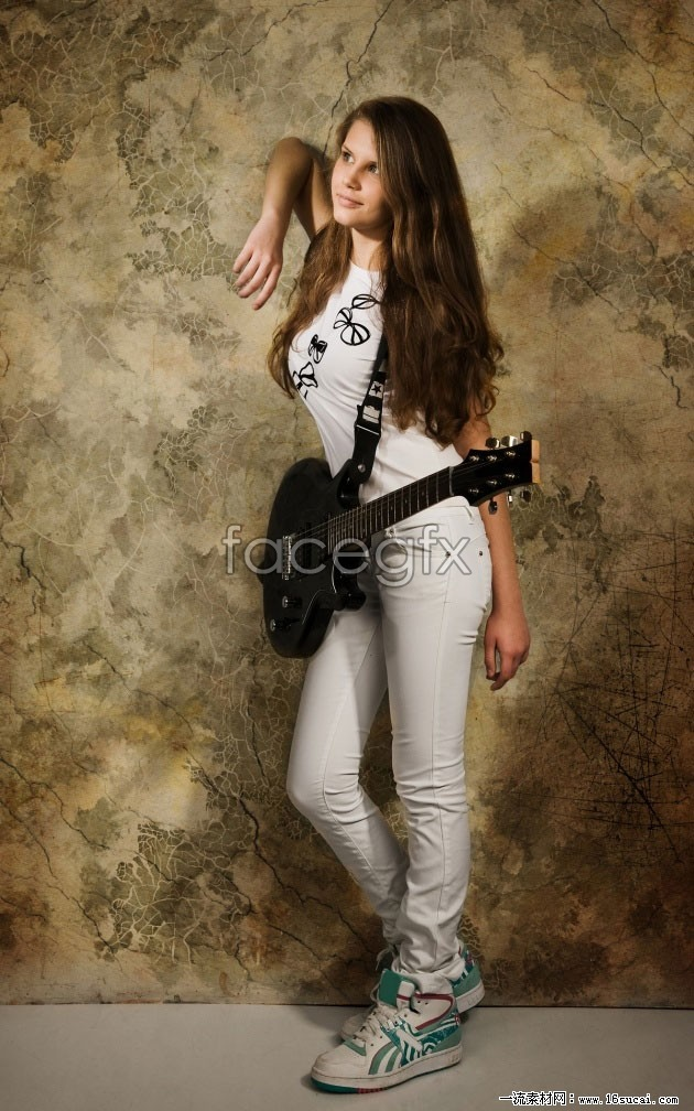 Girls pictures HD guitar