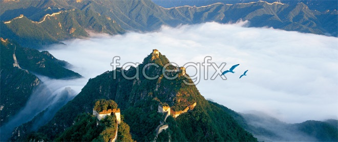Great Wall top view high definition pictures