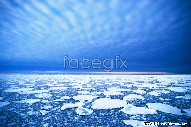 Sea ice landscape high resolution images