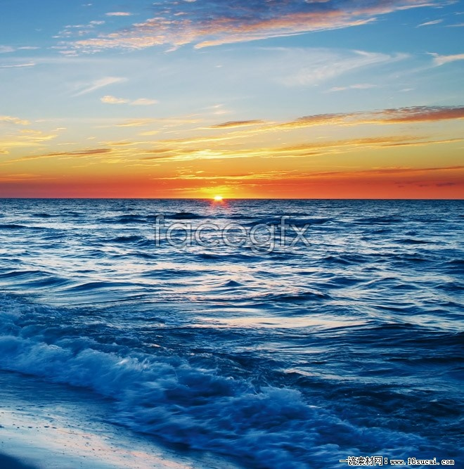 Sunrise at sea scenery of high definition pictures