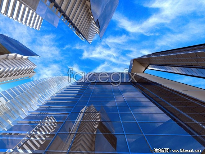 Urban high-rises overhead imagery high resolution images