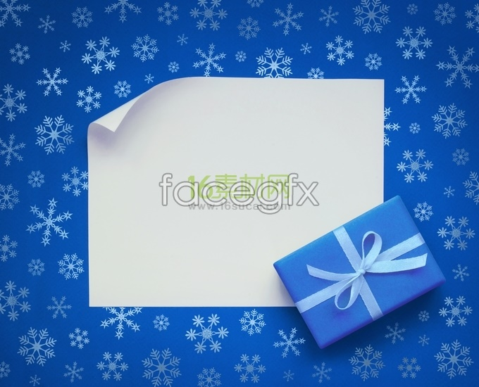Blue Snowflake background shading HD pictures