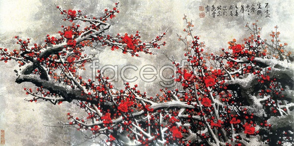 Chinese plum blossom high definition pictures