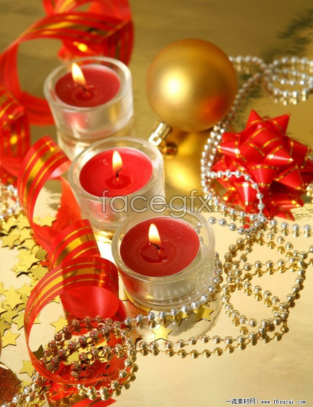 Christmas candle high definition pictures