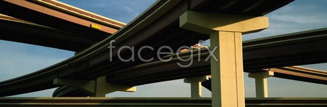 HD of urban grade separation bridge picture