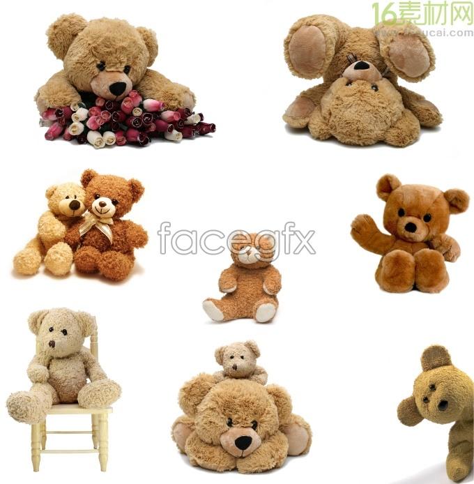 Super cute bear plush toy HD Photo