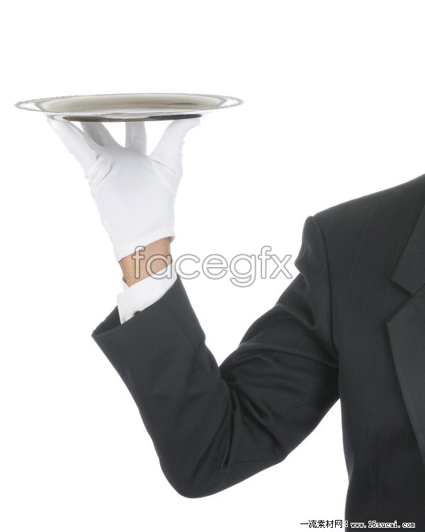 Waiter trays pose HD pictures 3