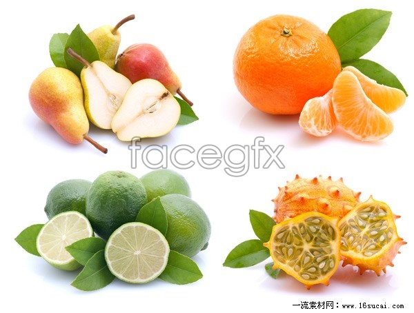 4 fresh fruit HD picture