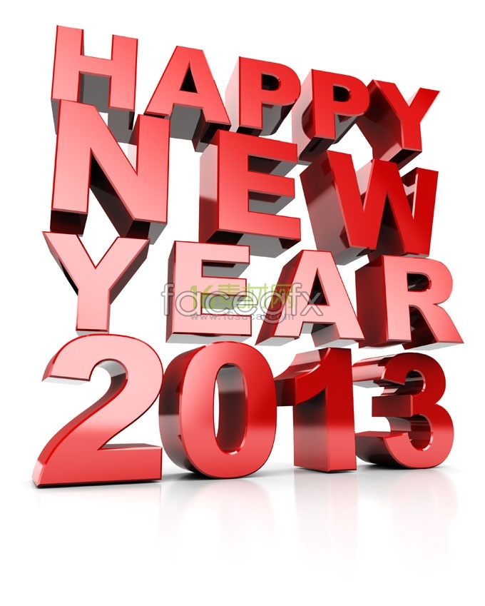 Happy new year to 2013 font pictures