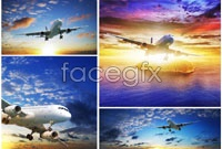 5 aircraft flying high definition pictures