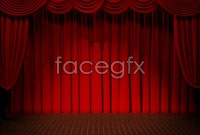 Red stage background high definition pictures