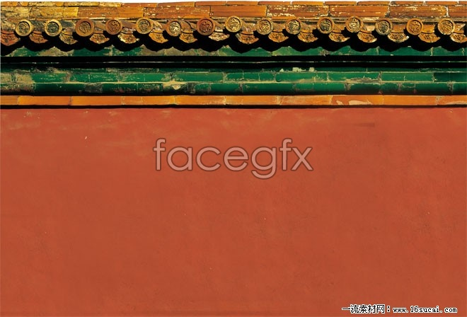 Chinese classical architectural wall HD pictures