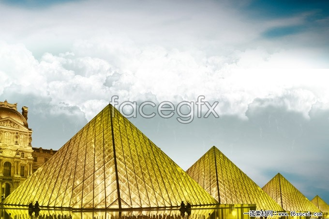 Glass crystal pyramid high definition pictures