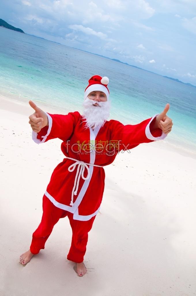 Santa at the beach champion