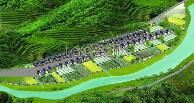 Socialism new countryside construction planning HD pictures