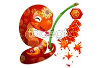 Firecrackers cartoon snake picture