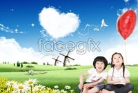 Kids outdoor play HD desktop wallpaper