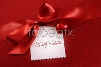 Red Ribbon gift bow high definition pictures