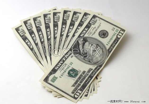 A folded dollar bill HD picture