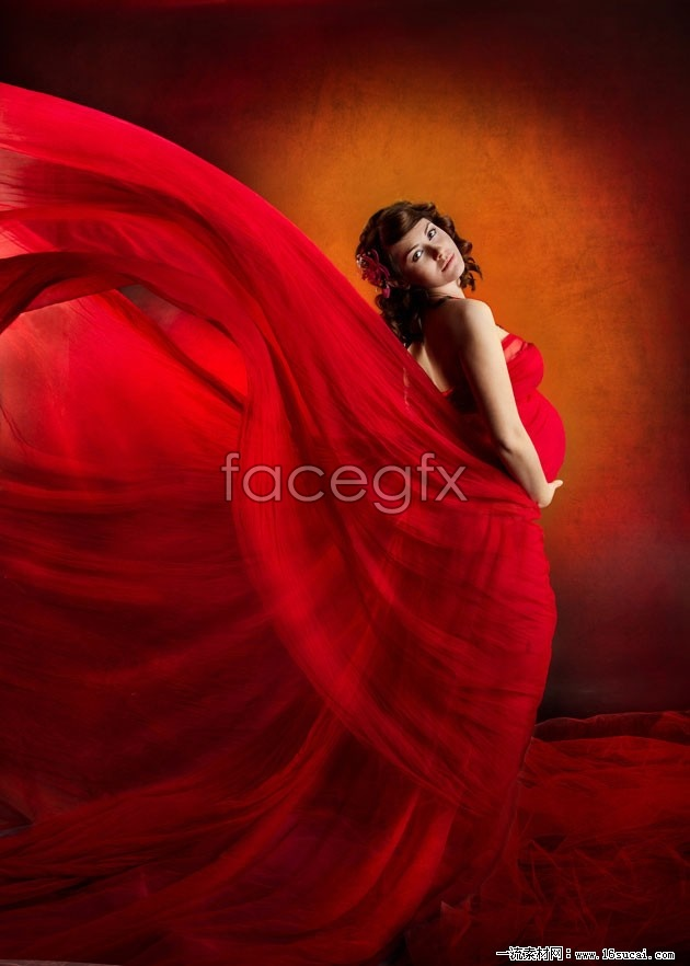 Pregnant women in red photo HD pictures