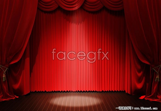 Red stage curtain background high definition pictures