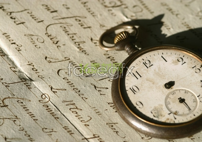 Retro clock pocket watch high definition pictures