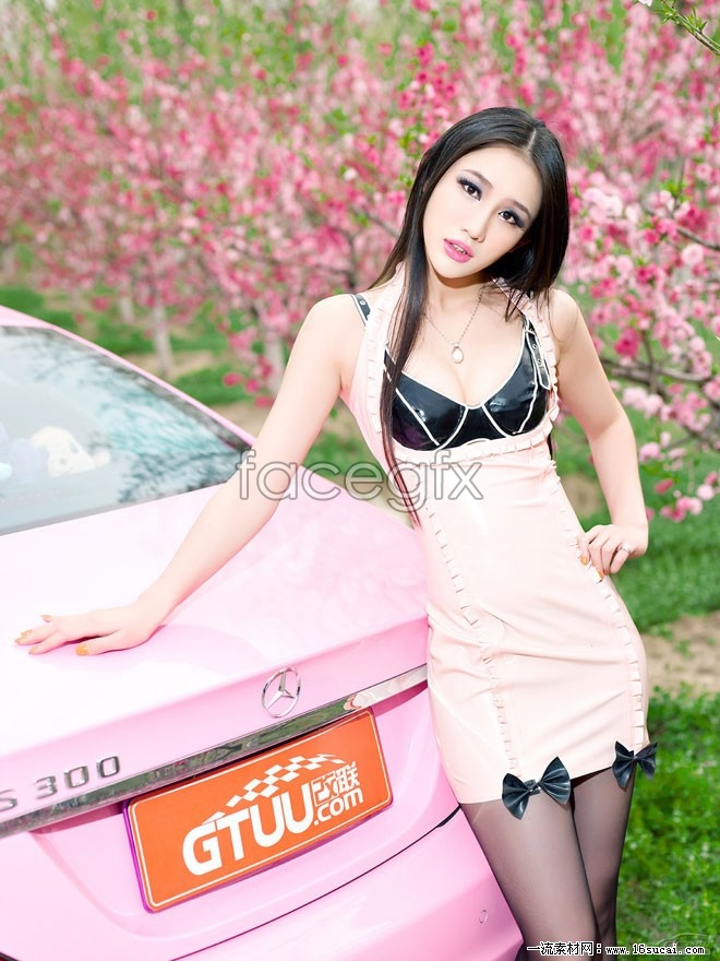 Sexy cars, black silk beautiful HD pictures