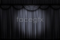 Black curtain , high definition pictures