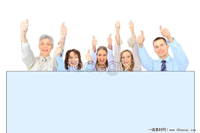 A row of people thumbs high resolution images