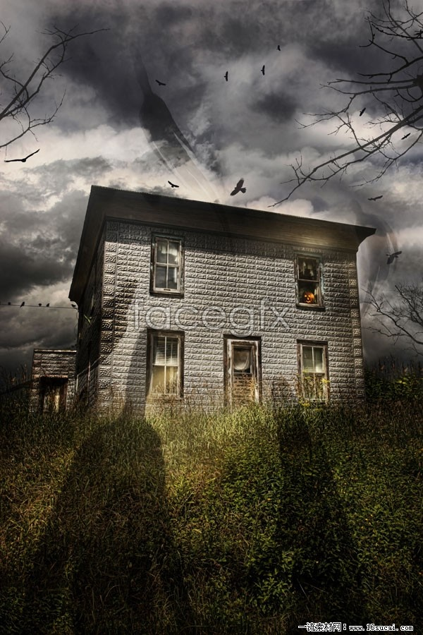 Halloween ghost castle high definition pictures