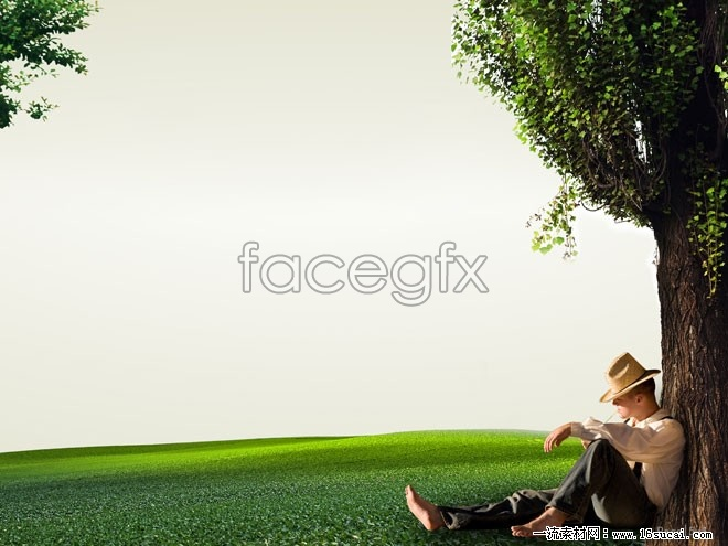 Man sitting on the grass high definition pictures
