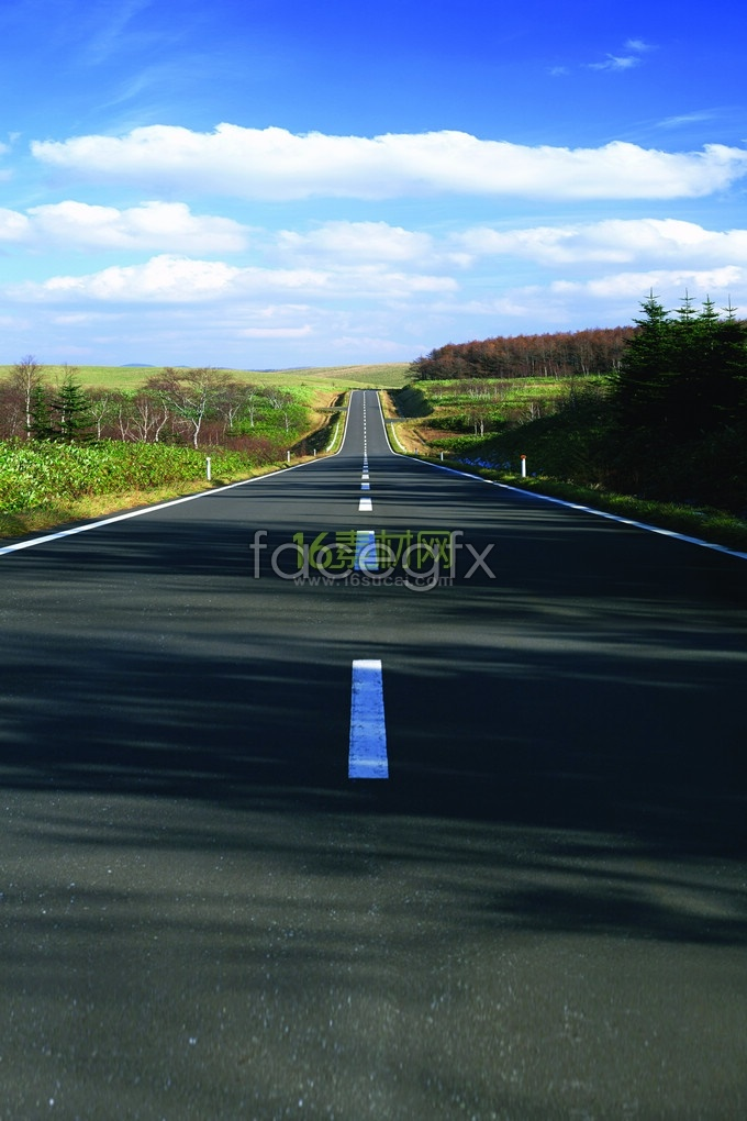 Straight extends to a distance of Highway