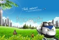 HD landscape picture city train