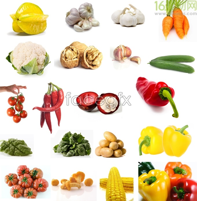 Vegetable and fruit collection HD Photo