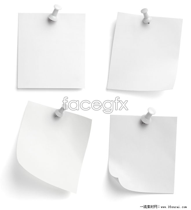 4 piece white memo paper high definition pictures