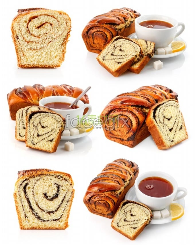 Bread coffee HD Photo