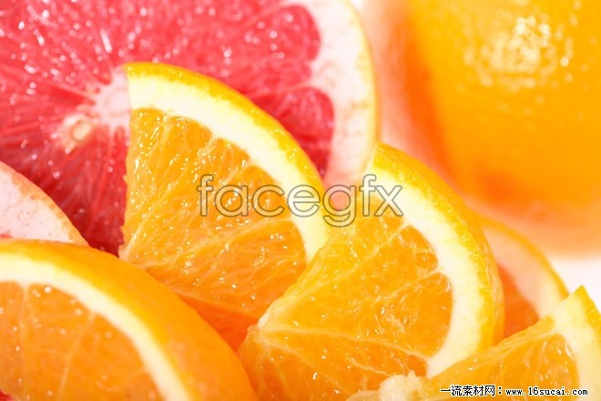 Sweet oranges slices high definition pictures