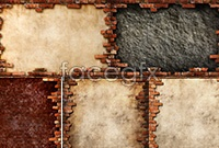 Nostalgic brick wall high definition pictures