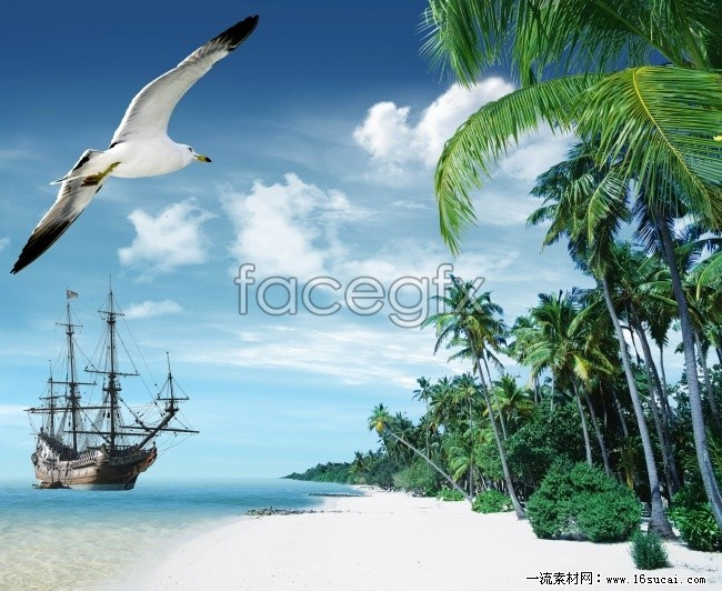Hainan Sanya seaside landscape high resolution images