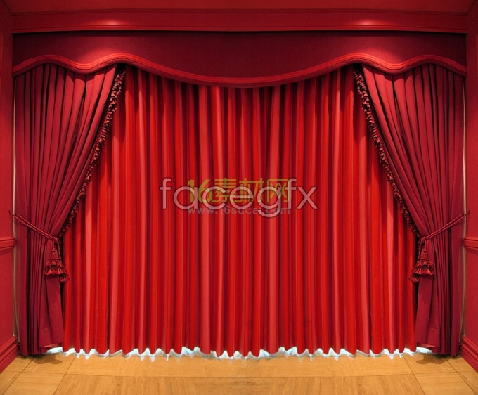 Stage curtain HD Photo