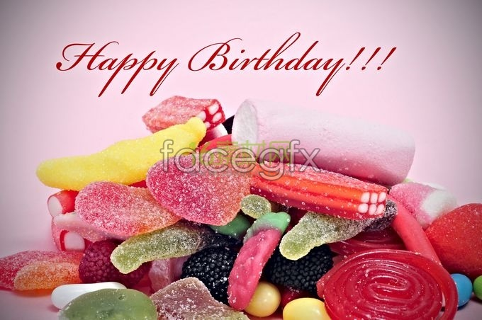 Happy birthday fruit jelly warm high definition pictures